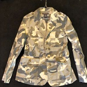 British khaki camo blazer